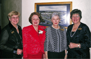 Noeline Walsh, Joan-Mary Longcroft QSM (Auckland Zonta), June Read and Catherine Grey