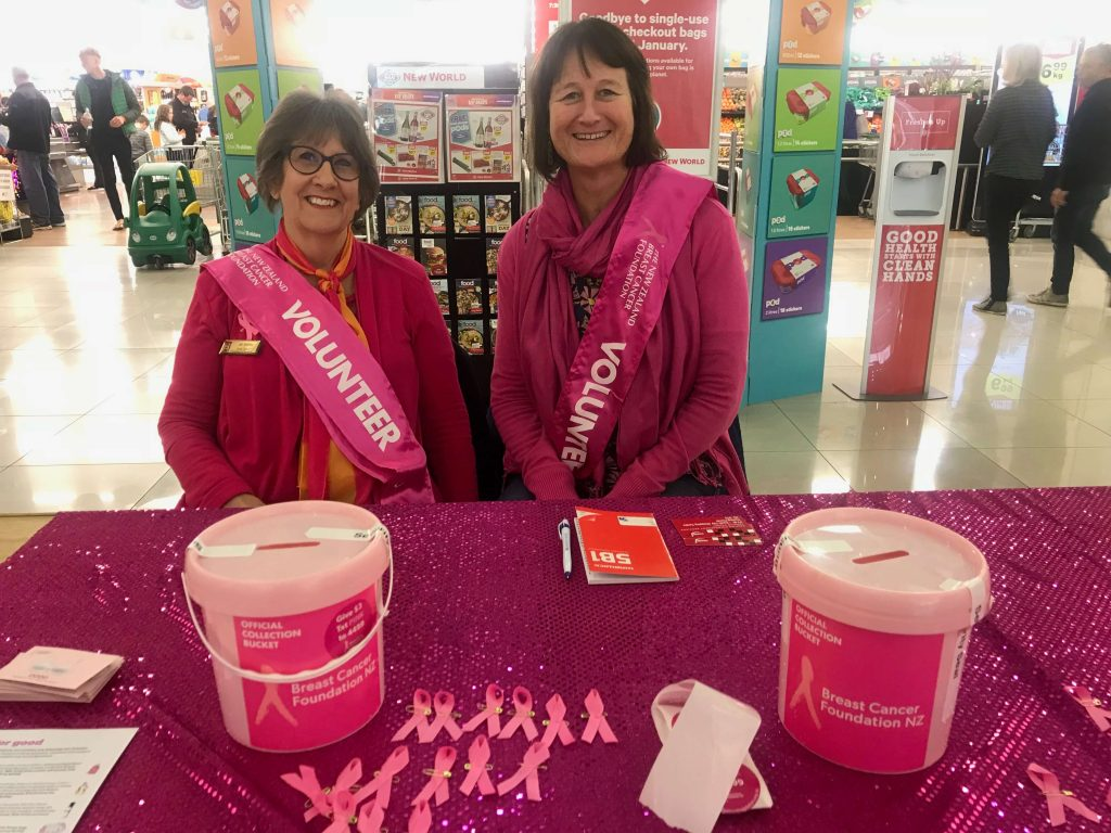Zonta Club of Christchurch-Canterbury - Pink Ribbon Collecting 2018